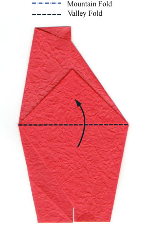 простая роза оригами из бумаги 3