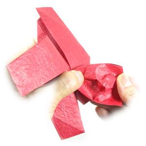 простая роза оригами из бумаги 30