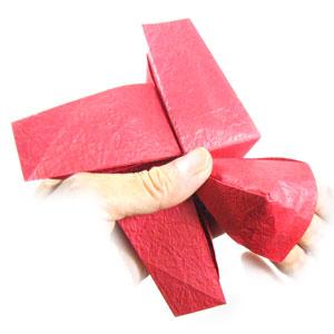 простая роза оригами из бумаги 31