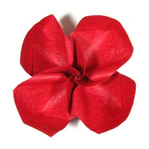 простая роза оригами из бумаги 33