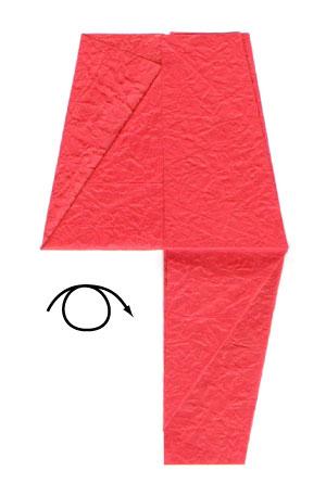 простая роза оригами из бумаги 6