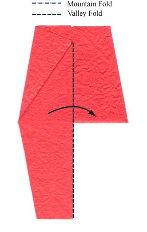простая роза оригами из бумаги 7