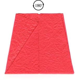 простая роза оригами из бумаги 9