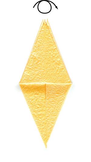 простая роза оригами 34