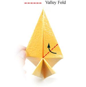 простая роза оригами 38