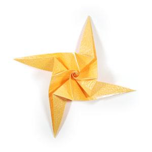простая роза оригами 47