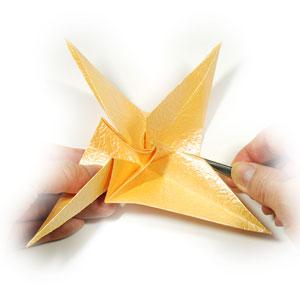 простая роза оригами 48