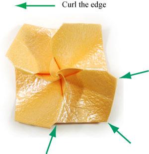 простая роза оригами 52