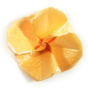 простая роза оригами 54