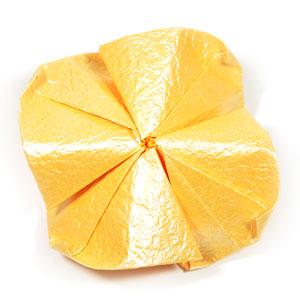 простая роза оригами 55