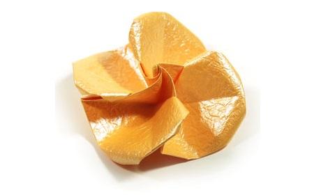 простая роза оригами 56