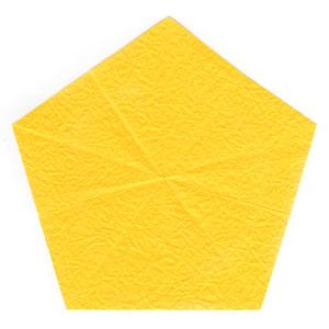 простая роза с пятью лепестками из бумаги 4