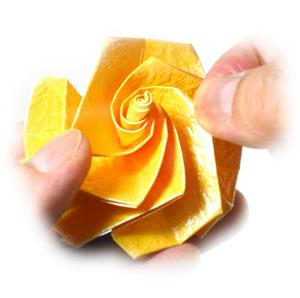 Журавлик с розой за схемой