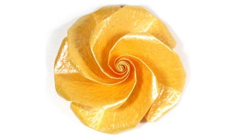 простая роза с пятью лепестками оригами 19