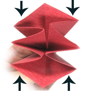 пуансеттия оригами 4