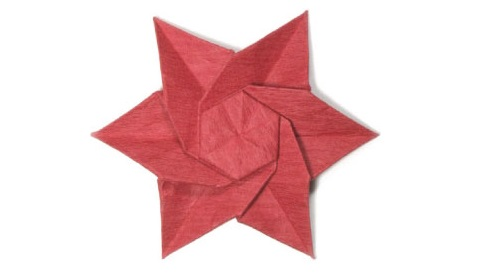 пуансеттия оригами 47