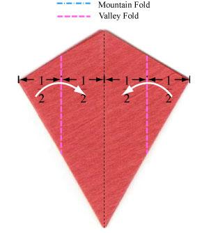 пуансеттия оригами 6