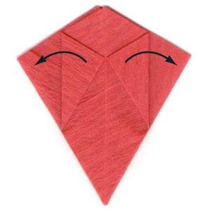 пуансеттия оригами 7
