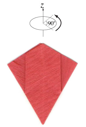 пуансеттия оригами 9