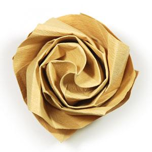 роза из цветной бумаги 38