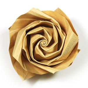 роза из цветной бумаги 40