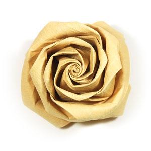 роза из цветной бумаги 43