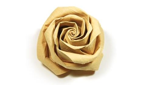 роза из цветной бумаги 45