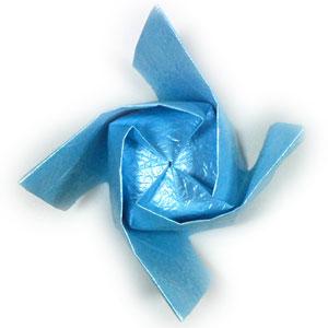 роза кавасаки из бумаги 50