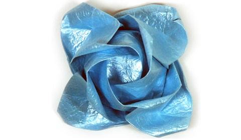 роза кавасаки из бумаги 81