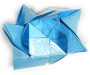 роза кавасаки оригами 10
