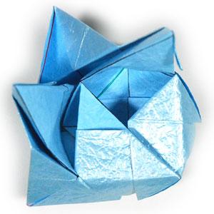 роза кавасаки оригами 11