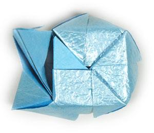 роза кавасаки оригами 12