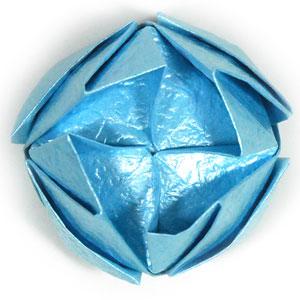 роза кавасаки оригами 15