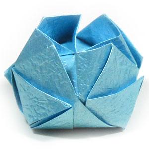 роза кавасаки оригами 16