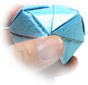 роза кавасаки оригами 17