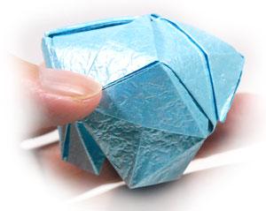 роза кавасаки оригами 19