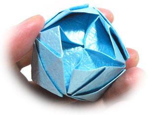 роза кавасаки оригами 20