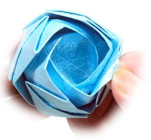 роза кавасаки оригами 24