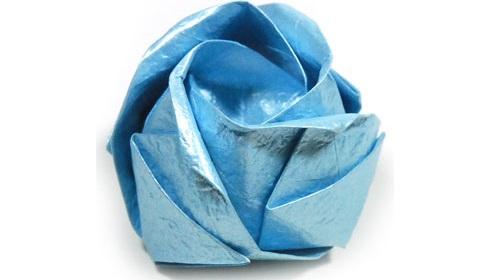 роза кавасаки оригами 27