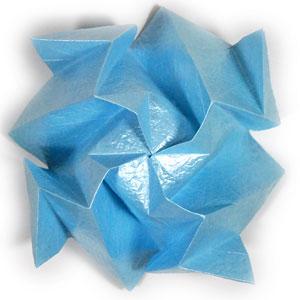 роза кавасаки оригами 3