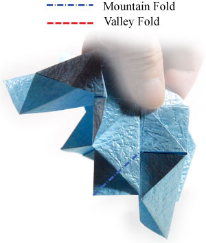 роза кавасаки оригами 5