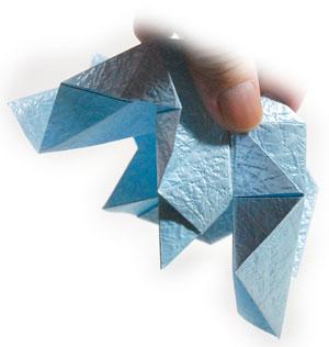 роза кавасаки оригами 6