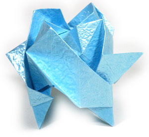 роза кавасаки оригами 7