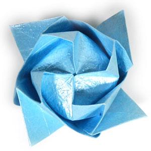 роза кавасаки оригами 8
