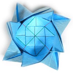 роза кавасаки оригами 9