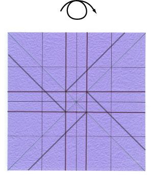 роза оригами из бумаги 25