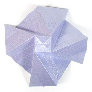 роза оригами из бумаги 27