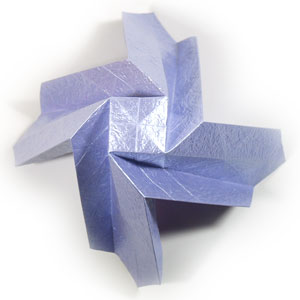 роза оригами из бумаги 35