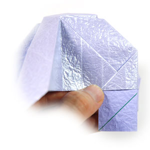 роза оригами из бумаги 38