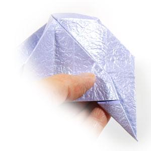 роза оригами из бумаги 43
